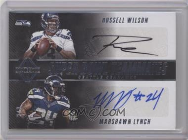 2017 Panini Majestic - Super Bowl Teammate Quad Signatures #SB-SS - Marshawn Lynch, Michael Bennett, Richard Sherman, Russell Wilson /3 [Near Mint]