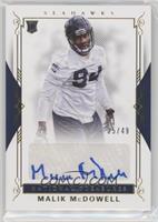 Rookie Signatures - Malik McDowell #/49