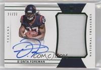 Rookie Patch Autographs - D'Onta Foreman /27