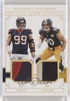 J.J. Watt, T.J. Watt [EX to NM] #/10