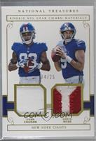 Davis Webb, Evan Engram [Noted] #/25