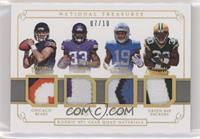 Kenny Golladay, Mitchell Trubisky, Dalvin Cook, Jamaal Williams #/10