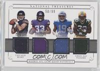 Dalvin Cook, Jamaal Williams, Kenny Golladay, Mitchell Trubisky /99