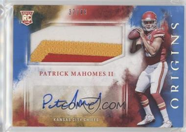 2017 Panini Origins - [Base] - Blue #104 - Rookie Jumbo Patch Autographs - Patrick Mahomes II /49