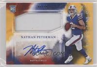 Rookie Jumbo Patch Autographs - Nathan Peterman #/10