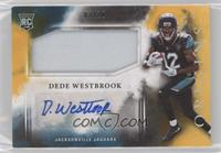 Rookie Jumbo Patch Autographs - Dede Westbrook /10