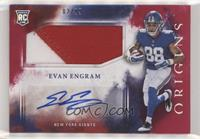 Rookie Jumbo Patch Autographs - Evan Engram /99