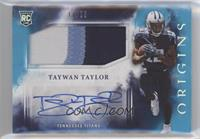 Rookie Jumbo Patch Autographs - Taywan Taylor #/25