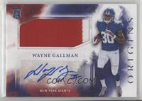 Rookie Jumbo Patch Autographs - Wayne Gallman