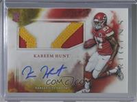 Rookie Jumbo Patch Autographs - Kareem Hunt