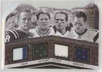Brett Favre, Drew Brees, Peyton Manning, Tom Brady /5