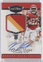 Rookie Patch Autographs - Kareem Hunt #/99