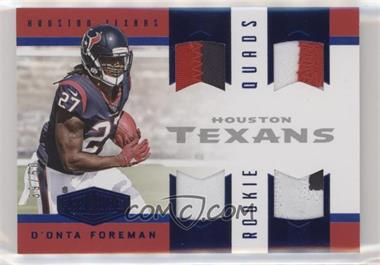 2017 Panini Plates & Patches - Rookie Quad Materials - Blue #RQM-16 - D'Onta Foreman /50