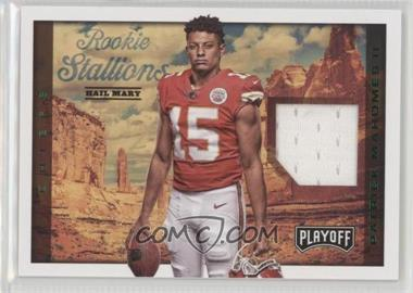 2017 Panini Playoff - Rookie Stallions - Hail Mary #RS-PM - Patrick Mahomes II