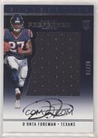 Rookie Silhouettes - D'Onta Foreman #/99