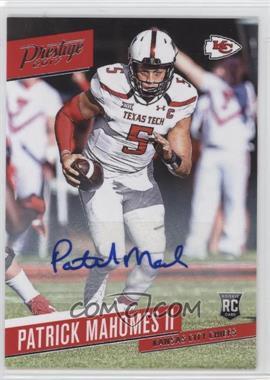 2017 Panini Prestige - [Base] - Rookie Signatures [Autographed] #232 - Patrick Mahomes II