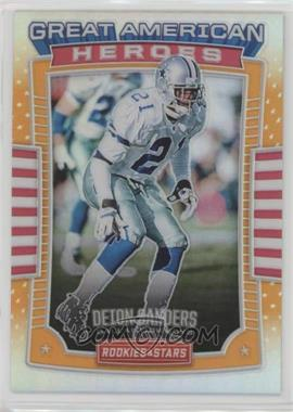 2017 Panini Rookies & Stars - Great American Heroes - Orange #25 - Deion Sanders /25