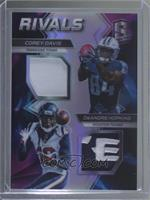 Corey Davis, DeAndre Hopkins #/2