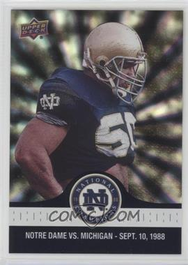 2017 Upper Deck Notre Dame 1988 Championship - [Base] - Blue Pattern Rainbow #6 - ND Defense Holds the Wolverines