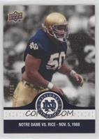 Chris Zorich leads the Irish D /88