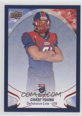2017 Upper Deck USA Football - [Base] - Blue Border #100 - Chase Young
