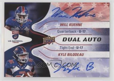 2017 Upper Deck USA Football - USA U17 Dual Autos #DA-10 - Will Kuehne, Kyle Bilodeau