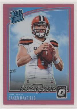 2018 Donruss Optic - [Base] - Pink #153 - Rated Rookies - Baker Mayfield