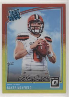 2018 Donruss Optic - [Base] - Red and Yellow #153 - Rated Rookies - Baker Mayfield