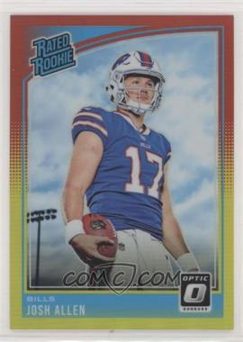 2018 Donruss Optic - [Base] - Red and Yellow #154 - Rated Rookies - Josh Allen