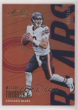 2018 Panini Absolute - [Base] - Spectrum Red #16 - Mitchell Trubisky /100