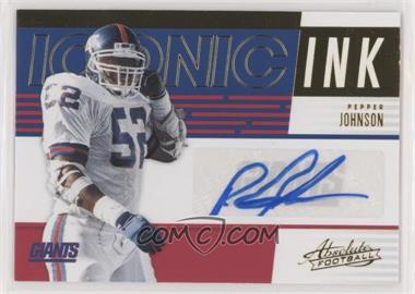 finest selection c7a8b 3ca29 2018 Panini Absolute - Iconic Ink #II-PJ - Pepper Johnson