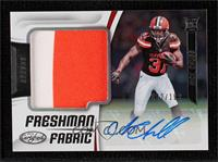 Freshman Fabric Signatures - Nick Chubb #82/199