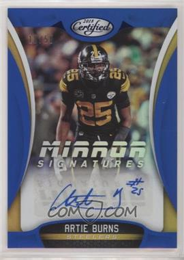2018 Panini Certified - Mirror Signatures - Blue #MS-AT - Artie Burns /50
