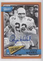 Legends - Roger Wehrli #/25