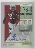 Rookie Ticket Autograph - Chase Edmonds #/49