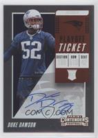 Rookie Ticket Autograph - Duke Dawson /99