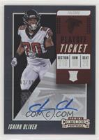 Rookie Ticket Autograph - Isaiah Oliver /99