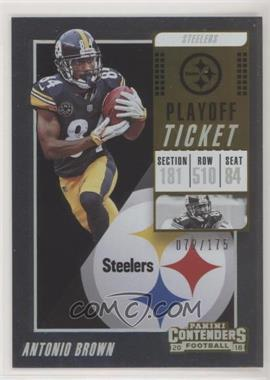 2018 Panini Contenders - [Base] - Playoff Ticket #17 - Antonio Brown /175