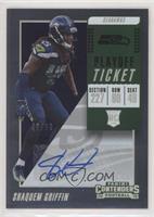 Rookie Ticket Autograph - Shaquem Griffin #/99