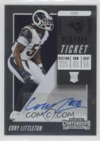 Rookie Ticket Autograph - Cory Littleton /99
