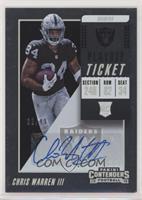 Rookie Ticket/Rookie Ticket Variation - Chris Warren III [EX to NM] #…