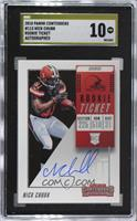 Rookie Ticket RPS - Nick Chubb [SGC 10 PRISTINE]