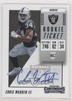Rookie Ticket Autograph - Chris Warren III