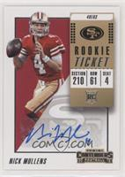 Rookie Ticket Autograph - Nick Mullens