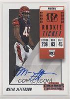 Rookie Ticket Autograph - Malik Jefferson