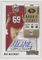 Rookie Ticket Autograph - Mike McGlinchey