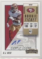 Rookie Ticket/Rookie Ticket Variation - D.J. Reed