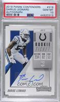 Rookie Ticket/Rookie Ticket Variation - Darius Leonard [PSA 10 GEM&nb…