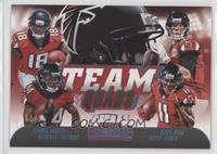 Calvin Ridley, Devonta Freeman, Matt Ryan, Julio Jones #/25
