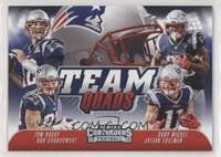 Tom Brady, Rob Gronkowski, Sony Michel, Julian Edelman #/75